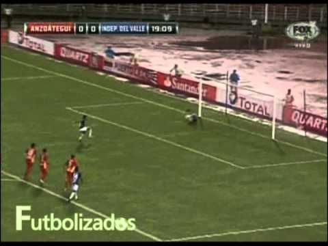 Gol de Fernando Guerrero (0-1). Dep. Anzoátegui - Independiente J.T. Copa Sudamericana