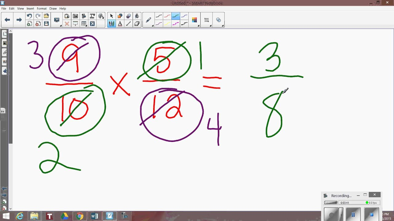 Cross cancellation when multiplying fractions youtube cross cancellation when multiplying fractions ccuart Gallery