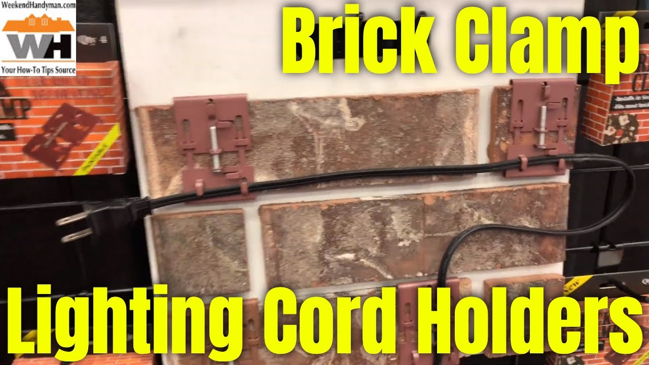 What Can I Use To Attach Christmas Lights To Brick brick clamp wall all season light and decorating clips