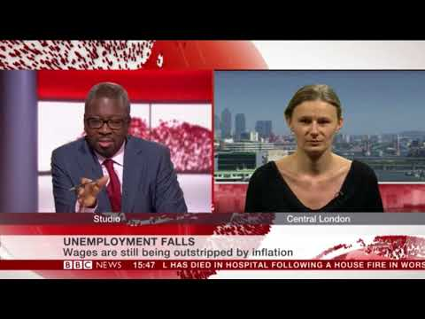 Unemployment figures and poor wages: Annie Quick on BBC News 13.12.17