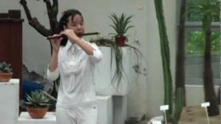 梆笛小女童-陳麗如-13歲-國中一年級-農村酒歌-青年公園演奏-