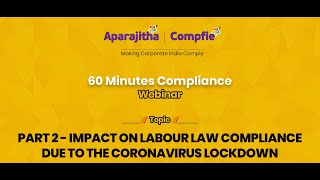 Impact on Labour Law Compliance due to Coronavirus Lockdown Q\u0026A - 60 Minutes Compliance - Part 1