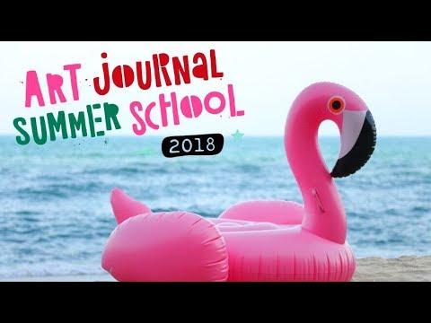 Ready for a creative, artsy Summer?!? Art Journal Summer School 2018 - join us!