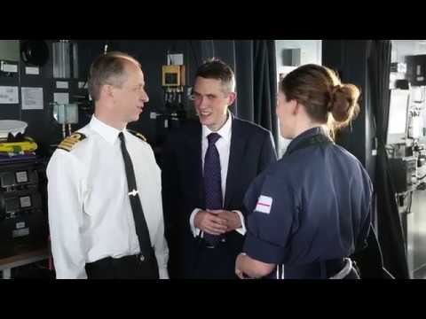 Defence Secretary Gavin Williamson visits HMS Queen Elizabeth