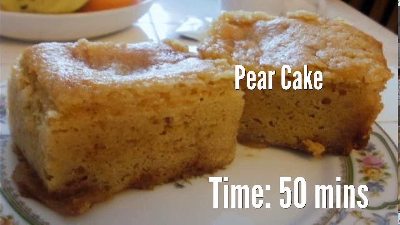 River Cottage Pear Pudding Cake Recipe
