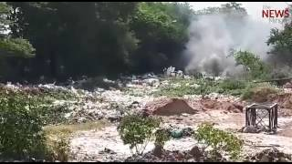 Froth on Monday, fire on Tuesday: Flames engulf Varthur lake, is there no solution?