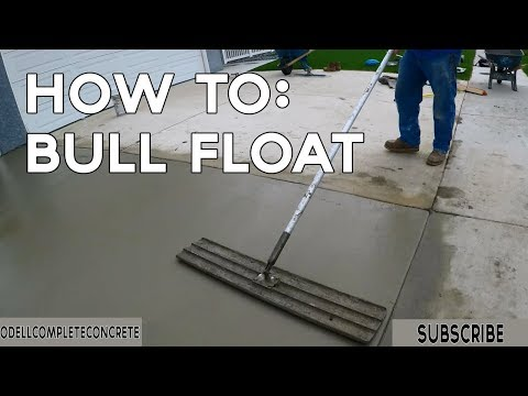 How to Finish Concrete with a Bull Float