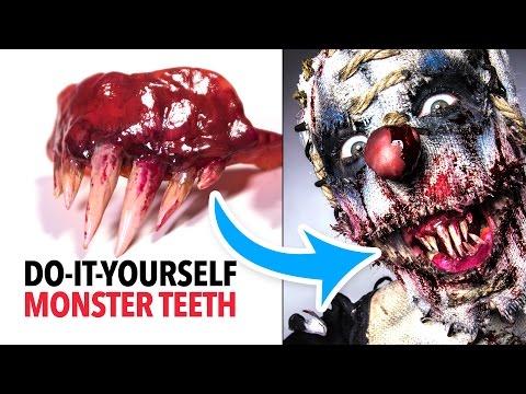 Super easy monster teeth tutorial
