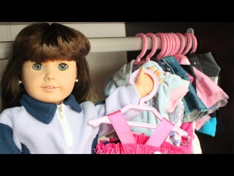 How To Make American Girl Doll Hangers + Bonus Footage - EASY DOLL CRAFTS - Simplekidscrafts