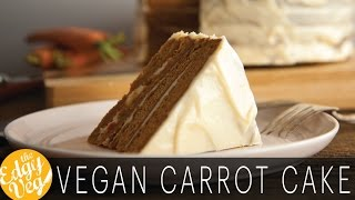 Vegan Recipe: Carrot Cake with Cream Cheese Frosting for Easter | Edgy Veg