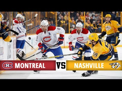 Montreal Canadiens vs Nashville Predators   Season Game 38   Highlights (3/1/17)
