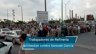 El diputado Samuel García, junto con legisladores locales de MC y el ambientalista Alfonso Martínez, acudieron a la refinería de Cadereyta, pero fueron confrontados por trabajadores