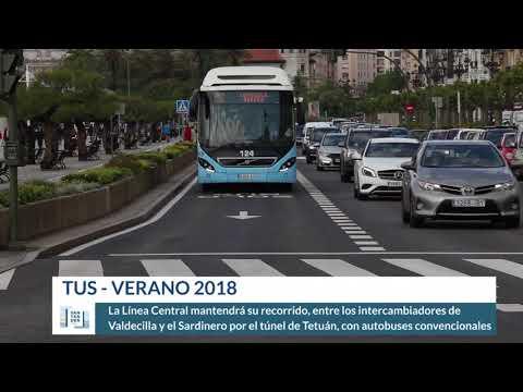 Horarios y refuerzos TUS - Verano 2018