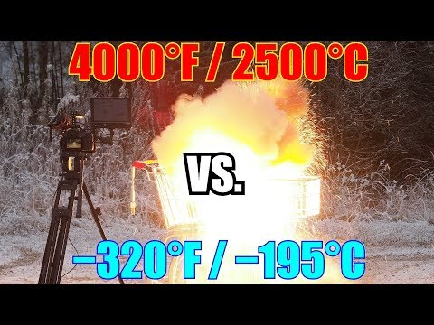 Liquid Nitrogen Vs. Thermite   EXTREME Cold Vs. EXTREME Hot