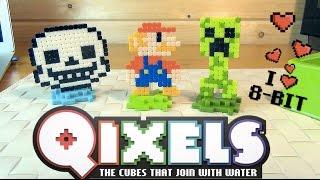 Undertale - Mario - Minecraft - Qixels - Пиксели Квиксели - Андертейл - Марио - Майнкрафт