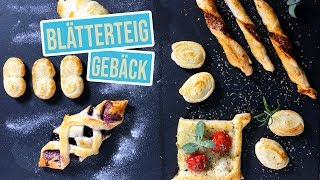 6 schnelle Blätterteig Ideen | Fingerfood Varianten süss & salzig
