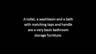 Bathroom Storage Furniture Tips | Bathroom Furniture Vanities Guide