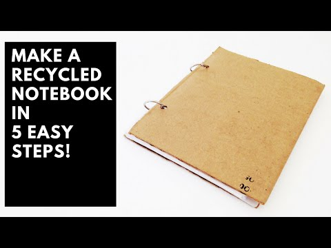 How to make a recycled notebook in 5 easy steps!