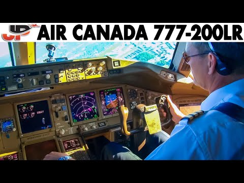 Piloting AIR CANADA Boeing 777-200LR To Toronto | Cockpit Views