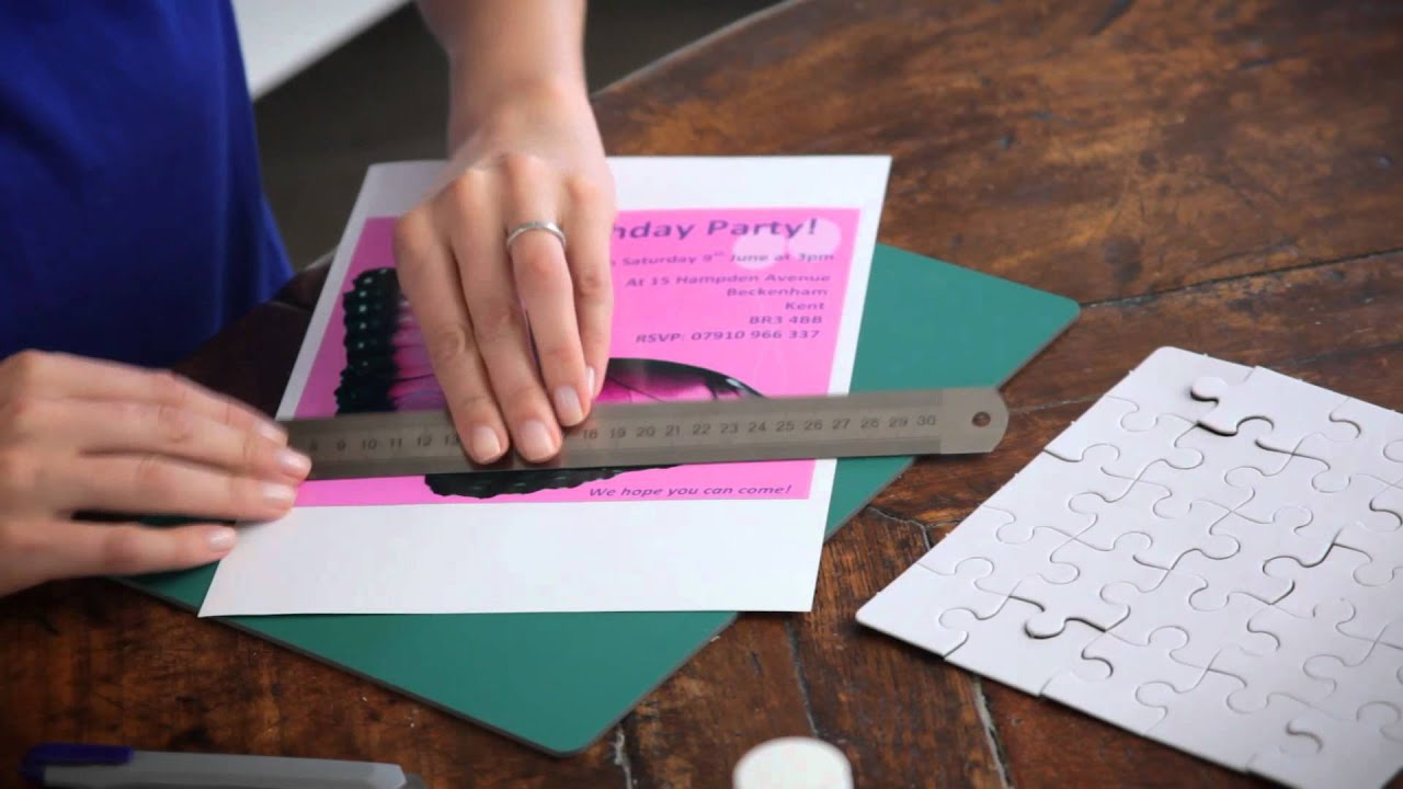 Create Your Own Jigsaw Party Invitations With A Kodak