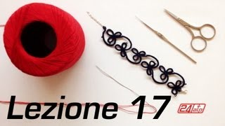 Repeat youtube video Chiacchierino Ad Ago - 17˚ Lezione Bracciale Collarino Con Perline Bijoux Tutorial Come Fare Tatting