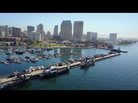 San Diego, CA - Downtown Part 2 - Seaport Village - by Drone | DJI Mavic Pro