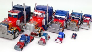 Transformers Movie Leader ~ Mini 9 Size optimus prime Truck Vehicle Transform Robot Car Toys