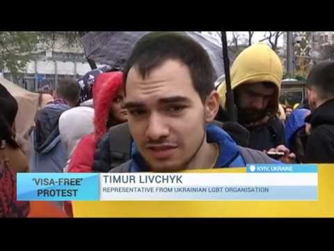 Ukraine Visa-Free Rally: Protesters demand MPs pass necessary laws for EU travel liberalisation