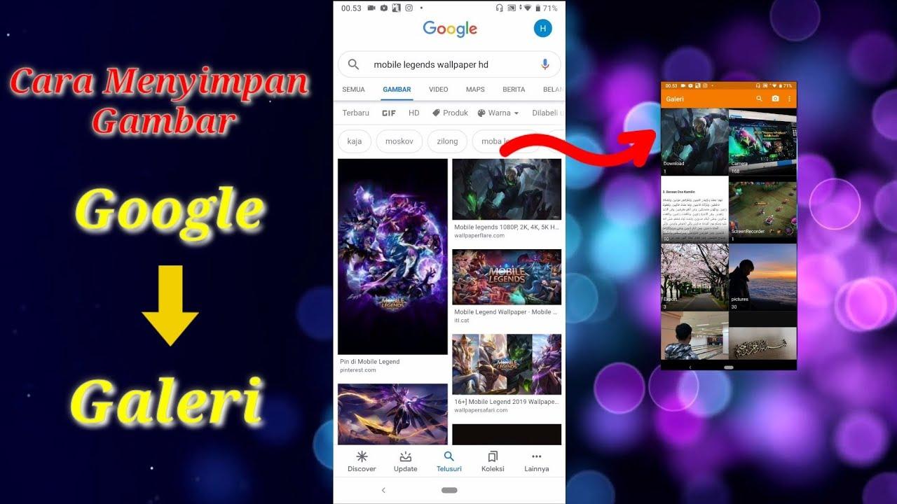 Cara Memindahkan Gambar Dari Google Ke Galeri Hp Ll Cuma 1 Menit Youtube