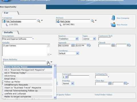Sage CRM Sales Opportunities Management