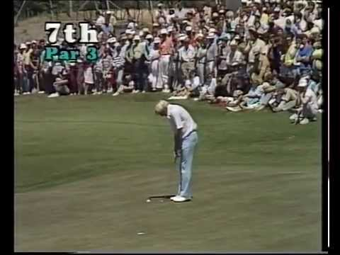 1987 Australian Open Golf won by Greg Norman | ABC TV | Royal Melbourne Golf Club