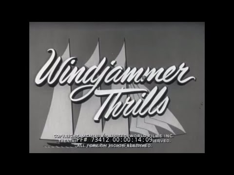 AGE OF SAIL SCHOONERS & SAILING SHIPS / AMERICA'S CUP NEWSREEL 73412