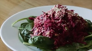 Raw/vegan Recipes - Sauerkraut & Avocado Salad