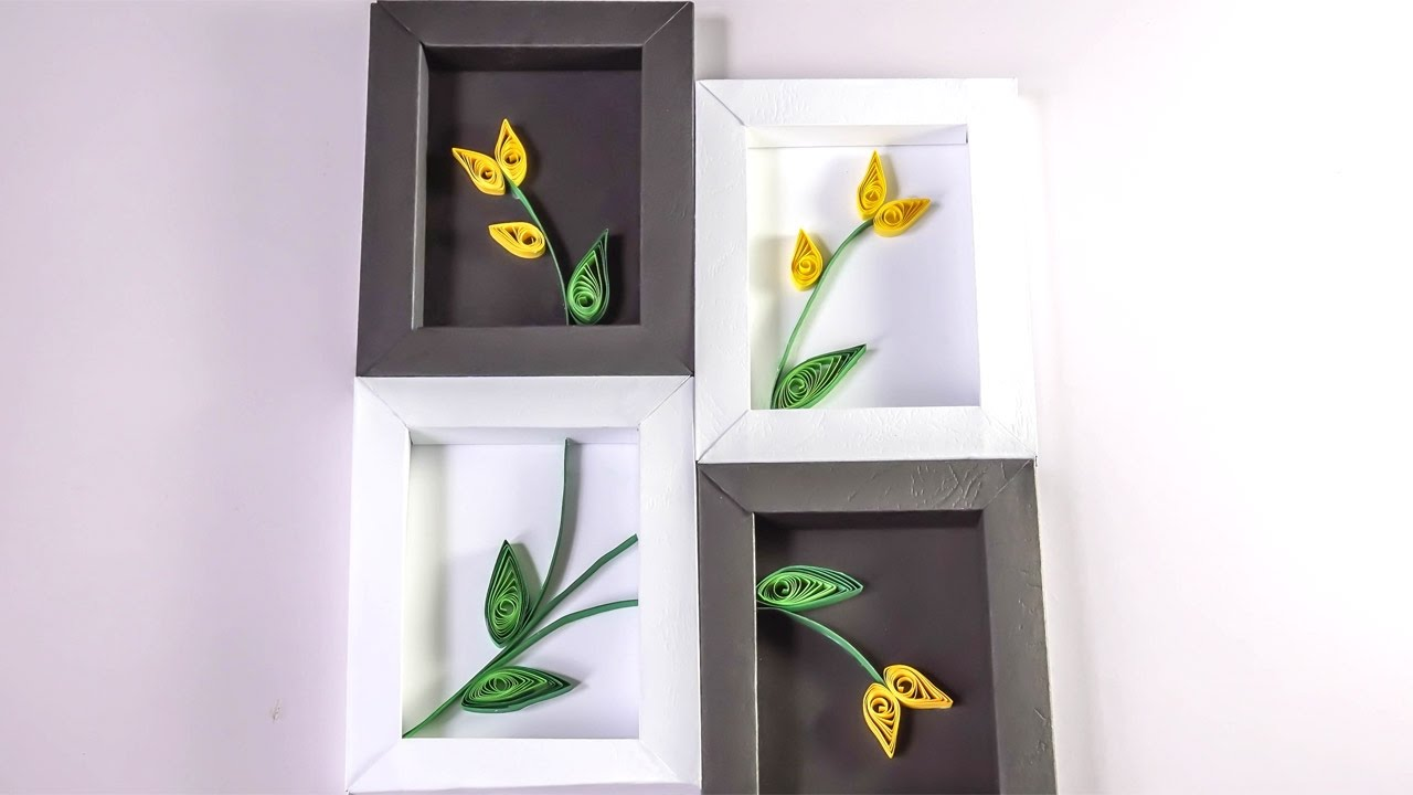 Paper Wall Decoration Diy : Diy wall decor paper quilling art for bedroom