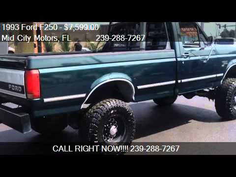 1993 Ford F250 Xl Hd Reg Cab 4wd For Sale In Fort Myers