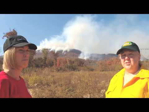 Chasing the Walden's Ridge forest fire with the Tennessee Forestry Department