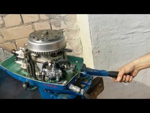 Ветерок 8 полная переборка лодочного мотора, регулировка карбюратора. Запуск.