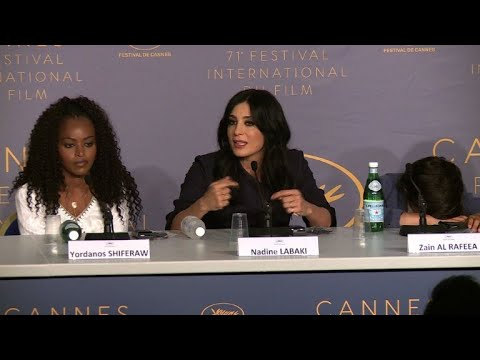 """Cannes: """"Capharnaum"""" production team gives press conference"""