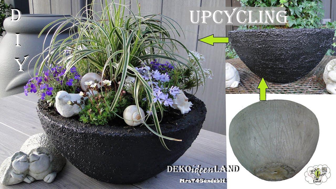 DIY Frühlings/ Sommerdeko: Blumentopf/ Pflanztopf (Kübel) für draußen | Upcycling Idee DekoideenLand