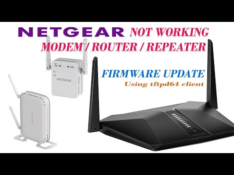 Netgear Not Working Modem/Router/Repeater Firmware Update With TFTP Client Software