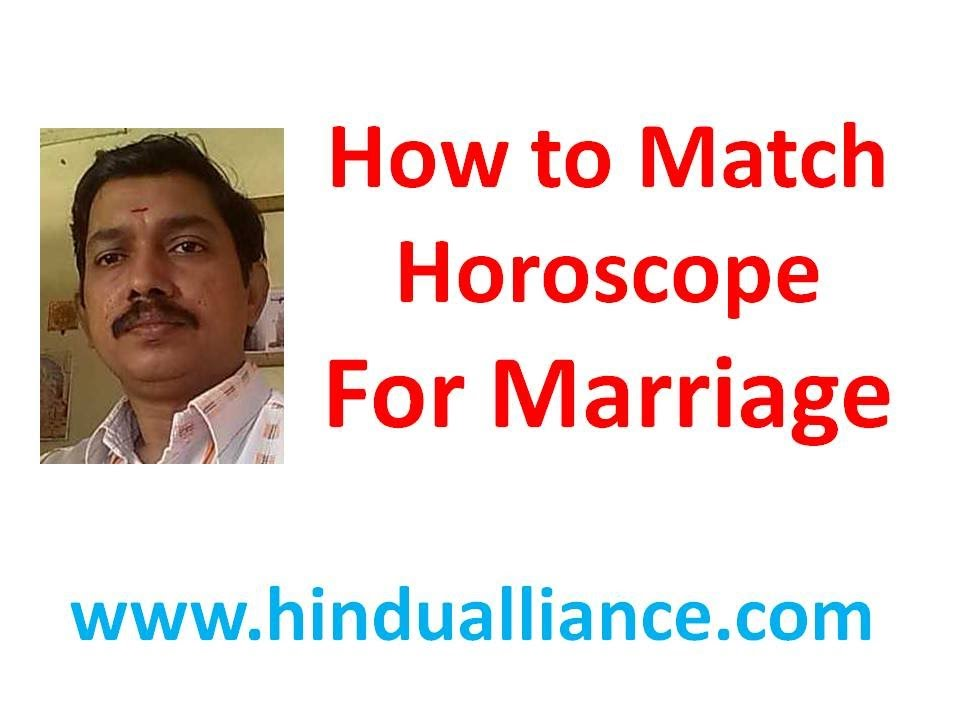 Horoscope match making for marriage