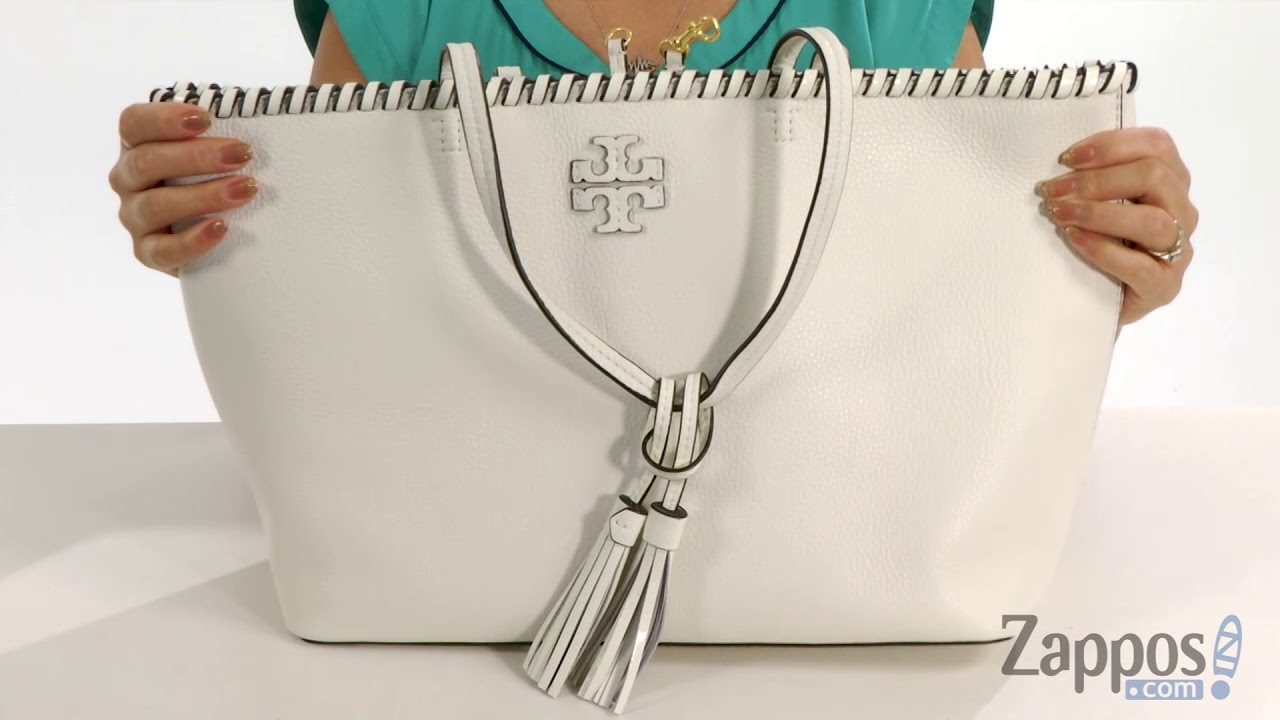 0202db1ac Tory Burch McGraw Whipstitch Tote SKU: 9024078 - YouTube