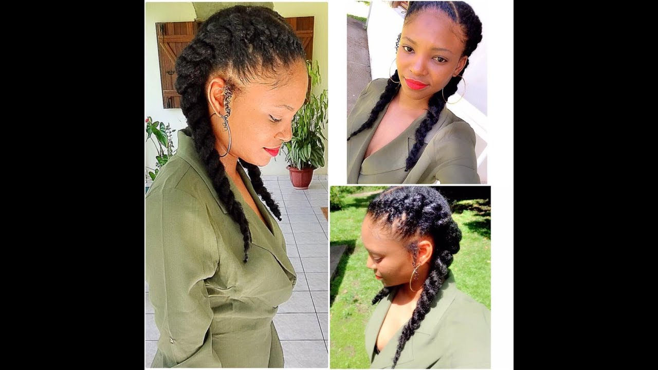 protective styles for natural hair with extensions how to do 2 twists put your extensions in 2 min 5837 | maxresdefault
