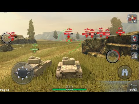 Word Of Tanks Blitz  AT2 Gameplay