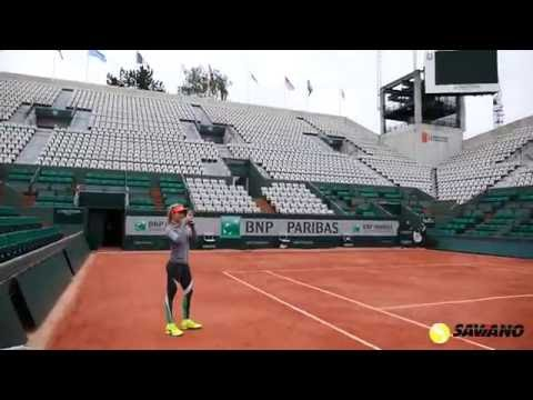 Tour Insights from Coach Nick Saviano while Genie Bouchard Warms up at The French Open
