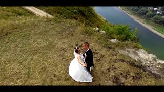 wedding day. drones video.
