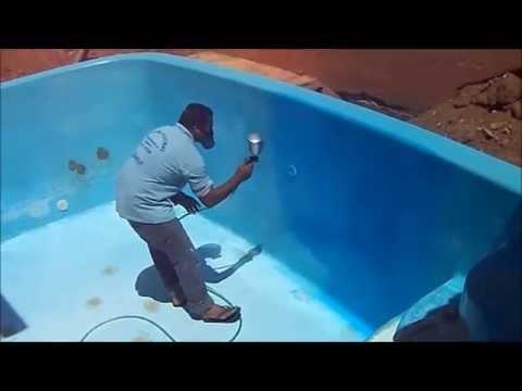 como restaurar uma piscina de fibra  YouTube