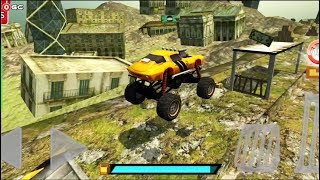 """Crazy Monster Bus Stunt Race 2 """"Map Ruins"""" 4x4 Monster Truck Android Gameplay FHD"""