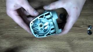 Замена подшипников на болгарке.  Replacement of bearings angular polishers.
