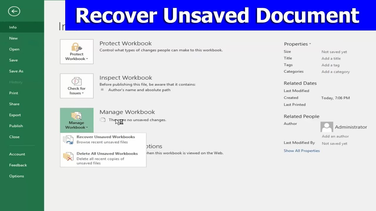 microsoft word 2018 recover unsaved document